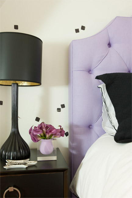 Purple And Black Bedrooms Contemporary Girl S Room Cuff Home