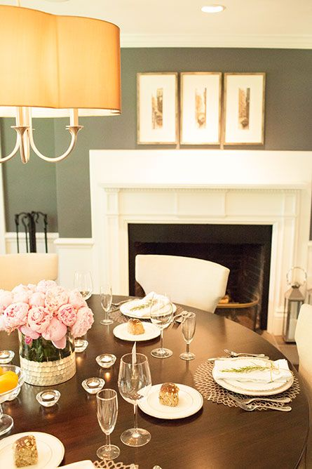 Sophisticated Dining Room Ideas For Your Home Design: Grey And Blue Dining Room