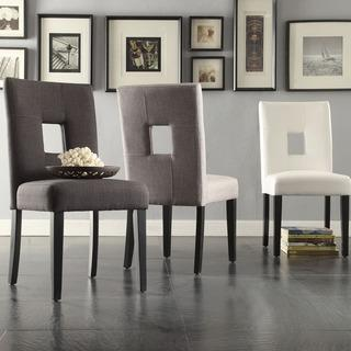 Fabulous Tribecca Home Mendoza Keyhole Back Various Colors Dining Chairs Alphanode Cool Chair Designs And Ideas Alphanodeonline