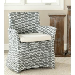 Safavieh St Thomas Indoor Wicker Washed-out Grey Arm Chair, Overstock.com