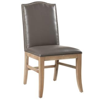 Sunpan Maison Leather Reclaimed Leg Dining Chairs (Set of 2), Overstock.com