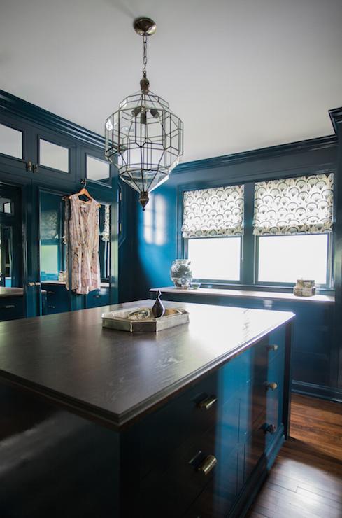 Peacock Blue Walls Eclectic Living Room Farrow