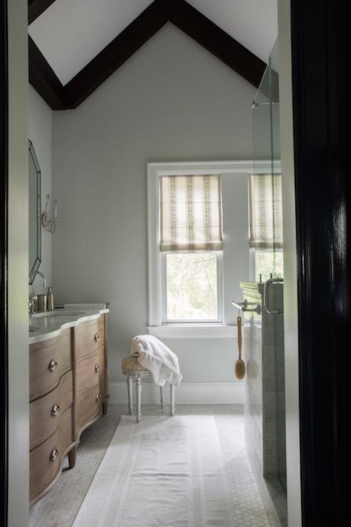 Double Vanity Bath Runner curved double bathroom vanity - transitional - bathroom