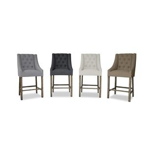 Hayes Various Colors Button Tufted Barstool