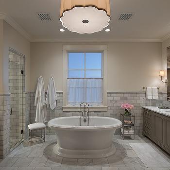 Tub Bewteen Vanities, Traditional, Bathroom