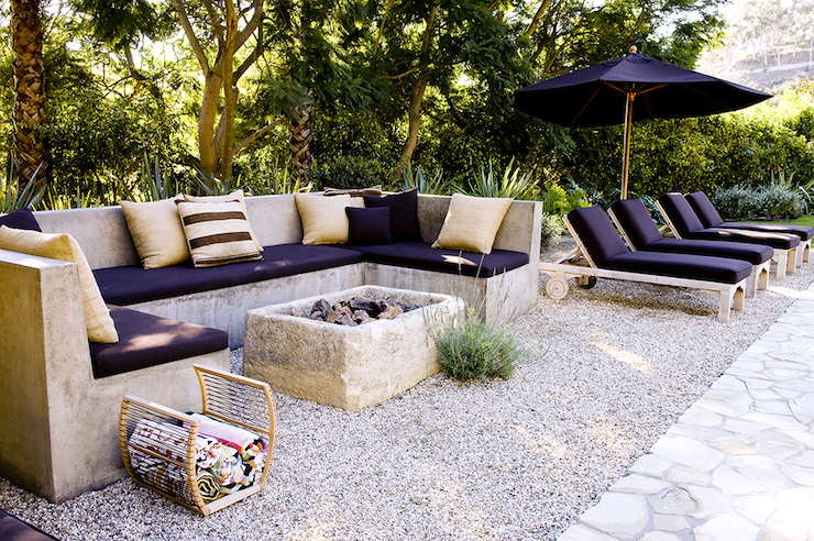 Outdoor Concrete Sofa Deck Patio Alexander Designs