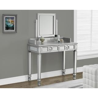Brushed Silver Mirrored 36-inch Vanity, Overstock.com