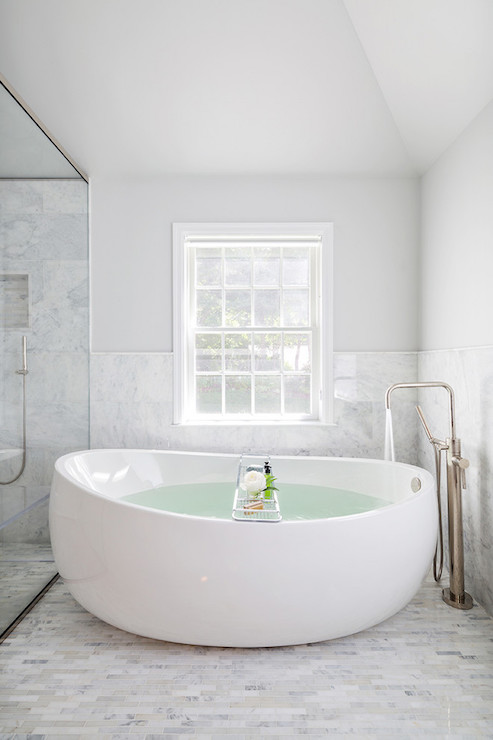 Egg Bathtub Contemporary Bathroom Clean Design Partners