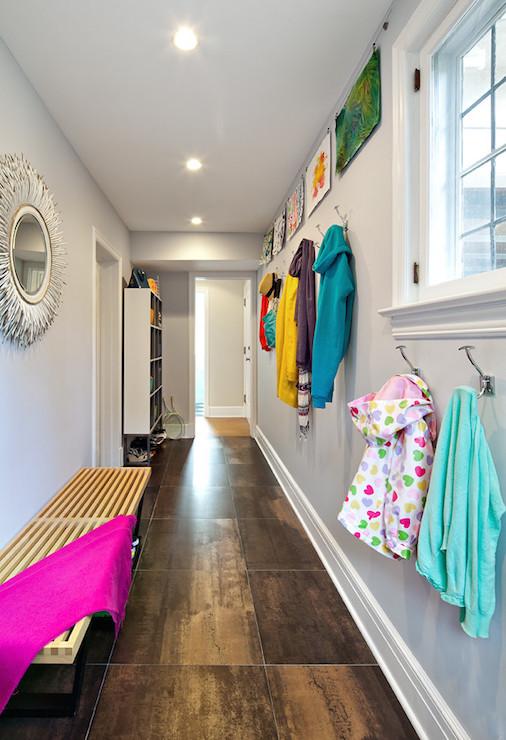 Mudroom Hallway - Contemporary - Laundry Room - Clean Design Partners