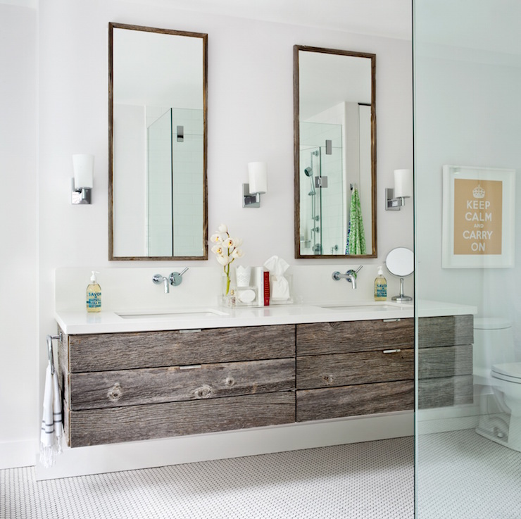 Reclaimed Wood Floating Vanity - Contemporary - Bathroom - Jennifer ...
