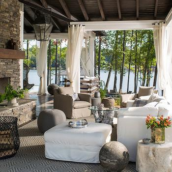 Boat Dock Converted to Lounge, Country, Deck/patio, Heather Garrett Design