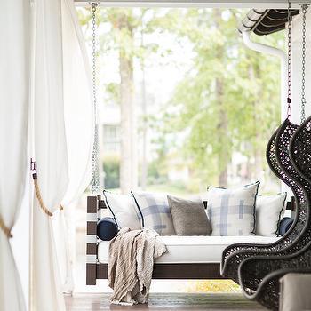 Outdoor Swinging Sofa, Country, Deck/patio, Heather Garrett Design