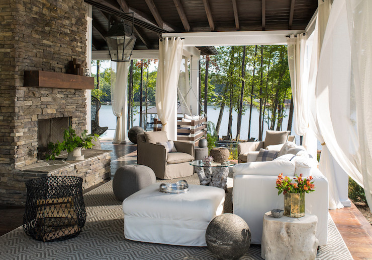 Boat Dock Converted To Lounge Country Deckpatio