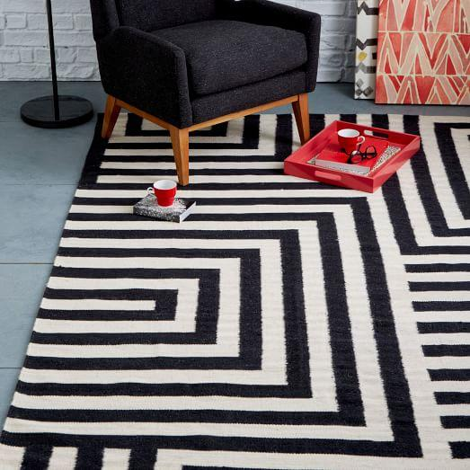 white and intertwining black stylid homes striped geometries rugs rug