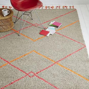 Karachi Collection Orange And Pink Area Rug