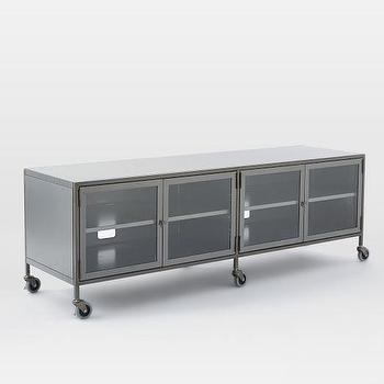 Industrial Metal Media Console, Large I West Elm