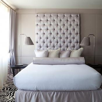 Tall Tufted Headboards, Modern, Bedroom, Purple Design