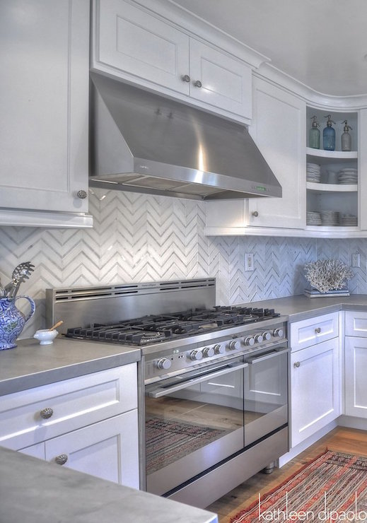 Kitchen With Zinc Countertops