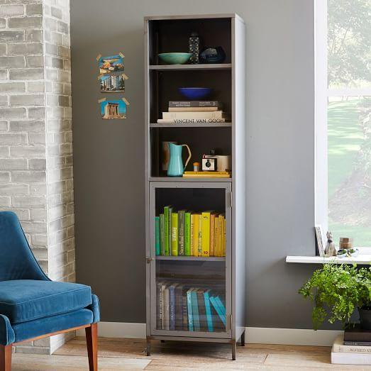 Ethan Grey Metal Cabinet