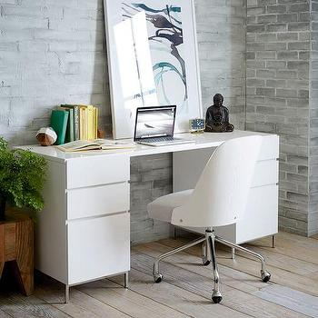 Modern White Gold Desk - Products, bookmarks, design, inspiration ...