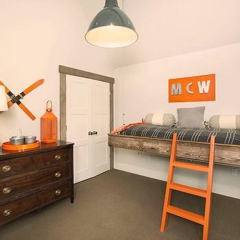 Hanging Kids Beds, Cottage, Boy's Room, Crestwood Construction