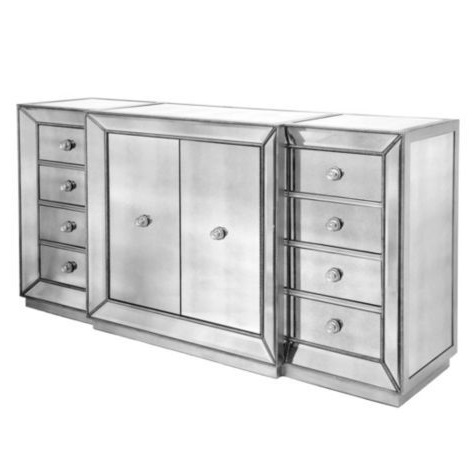 Z Gallerie Omni Mirrored Buffet view full size - Mirrored Buffet - Look 4 Less And Steals And Deals.