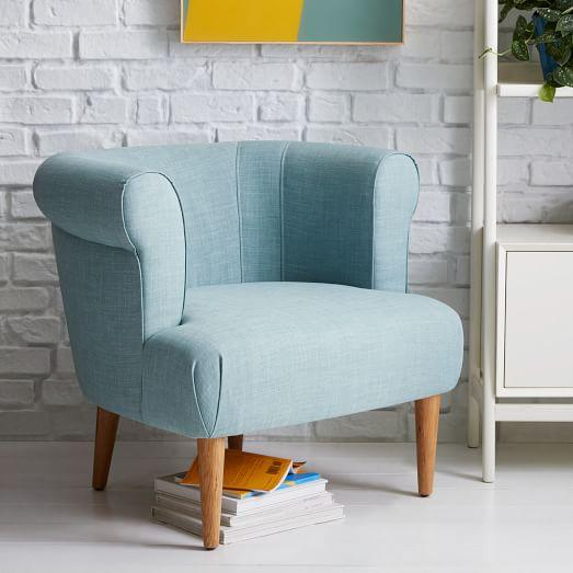 Rhys Chair Caribbean Blue Anthropologie Com