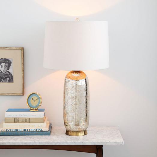 Regina Andrew Antique Mercury Glass Ripple Table Lamp