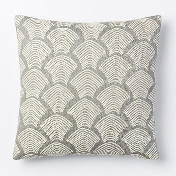 Crewel Deco Shells Pillow Cover, Platinum I West Elm