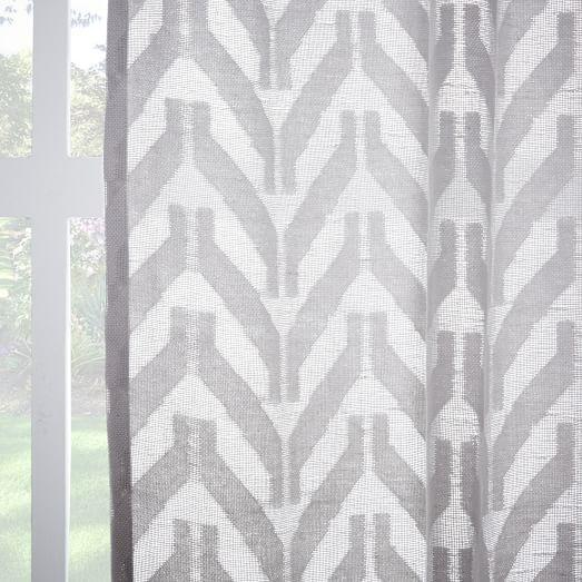 Curtains Ideas chevron curtains grey : Ambrosia Sheer Curtains - Neiman Marcus