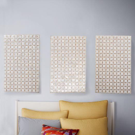 Silver And Gold Capiz Wall Art