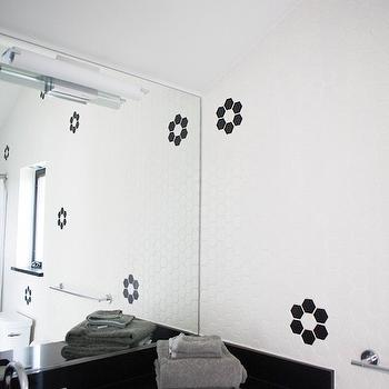 Black and White Bathroom Design, Vintage, Bathroom, Claire Zinnecker Design