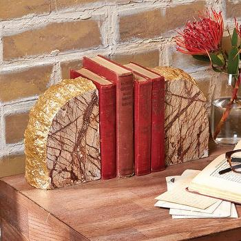 Marble Bookends design by Tozai Home I Burke Decor