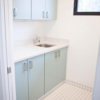 Gray Laundry Room Cabinets, Contemporary, Bathroom, Claire Zinnecker Design