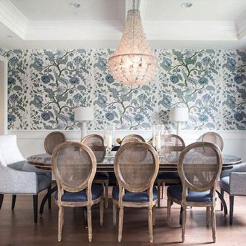 Oly Studio Ariel Chandelier, Transitional, Dining Room, Jackson Page Interiors