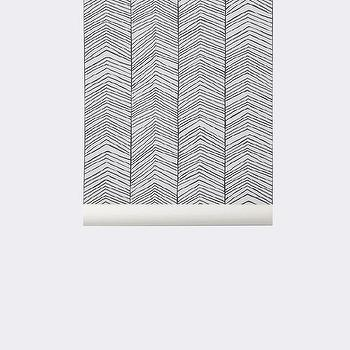 Herringbone Wallpaper design by Ferm Living I Burke Decor