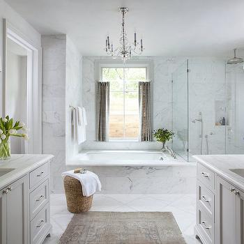 U Shaped Bathroom Cabinets With Makeup Vanity