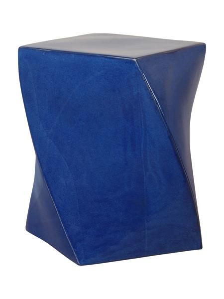 Blue Twist Garden Stool by Emissary  sc 1 st  Decorpad & Blue Garden Stool - Products bookmarks design inspiration and ... islam-shia.org