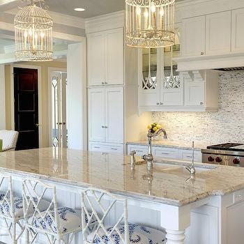 Birdcage Chandeliers, Transitional, Kitchen, Stonewood LLC