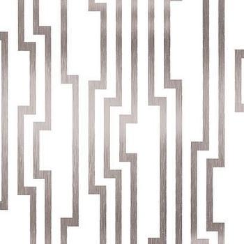Velocity Wallpaper in White and Silver design by Candice Olson, Burke Decor