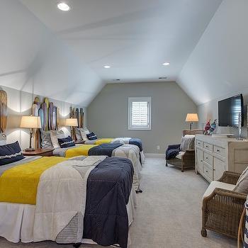 Oar Headboard, Cottage, Boy's Room, Stonewood LLC