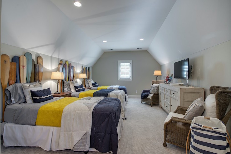 View Full Size Cottage Kids Bedroom In Attic