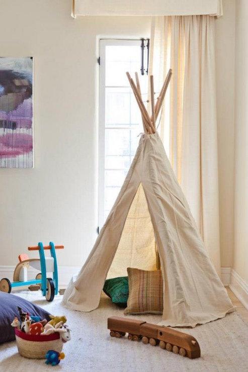 Playroom Teepee Transitional Boy 39 S Room Estee Stanley
