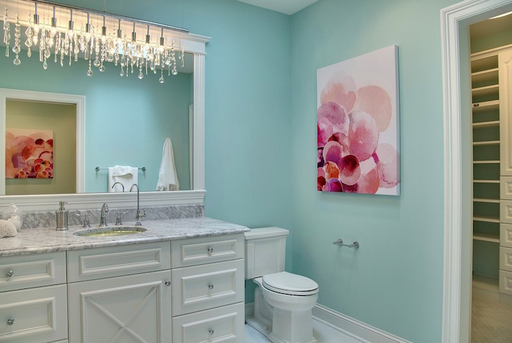 Gray And Turquoise Bathroom Design Design Ideas