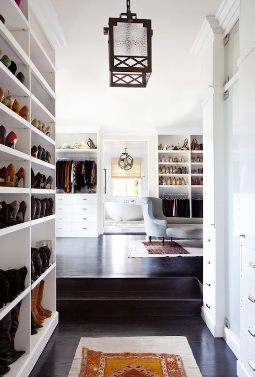 Walk Through Closet Design Transitional Closet Estee