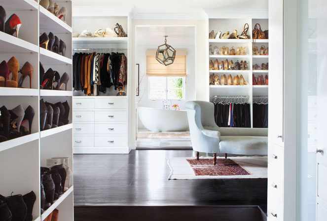 Walk Through Closets Transitional Closet Estee Stanley