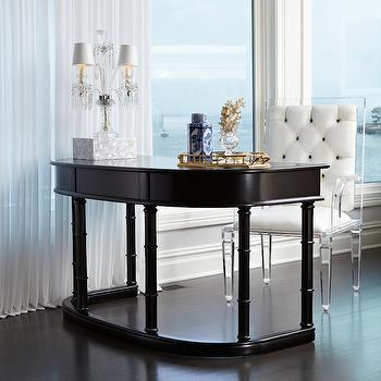 Lucite Desk Chair, Contemporary, Den/library/office, Donna Benedetto Designs