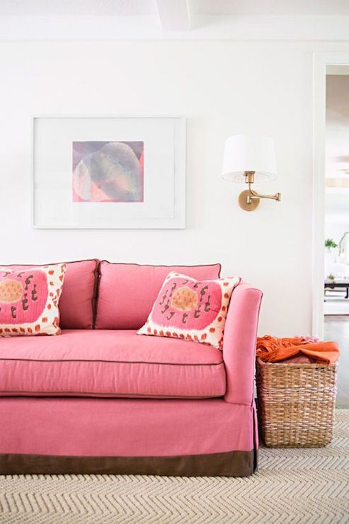 Pink Sofa - Contemporary - Living Room - McGrath 2