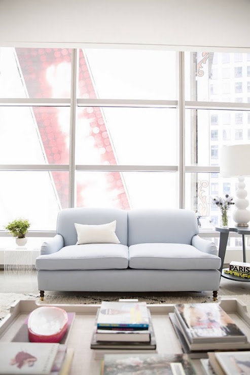 Powder Blue Couch Design Ideas