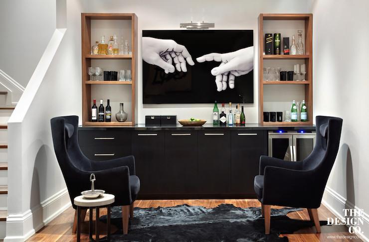 Charming Basement Bar Design